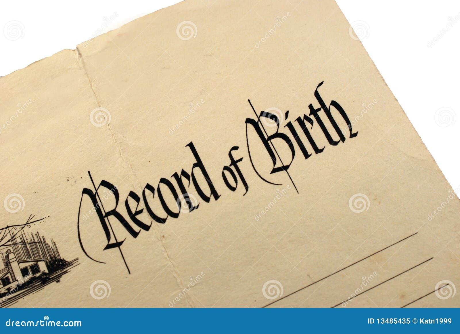 Generic Birth Certificate