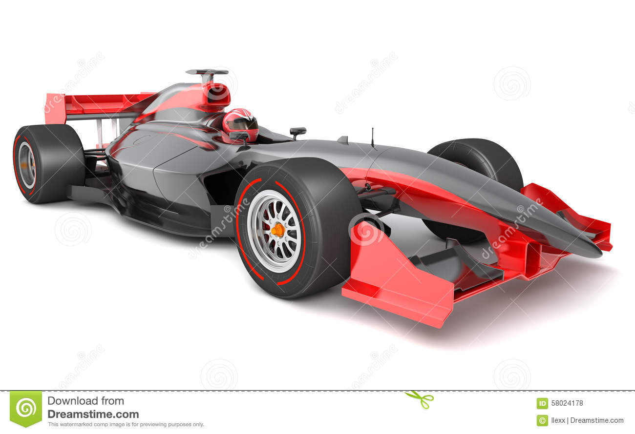 Generic Black And Red Race Car Stock Illustration Image