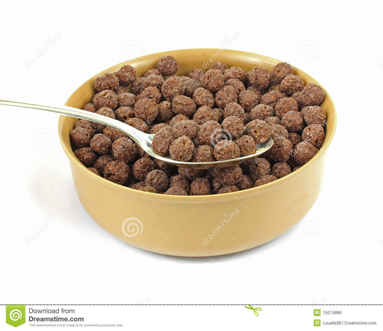 generic chocolate cereal in bowl stock photo image of food