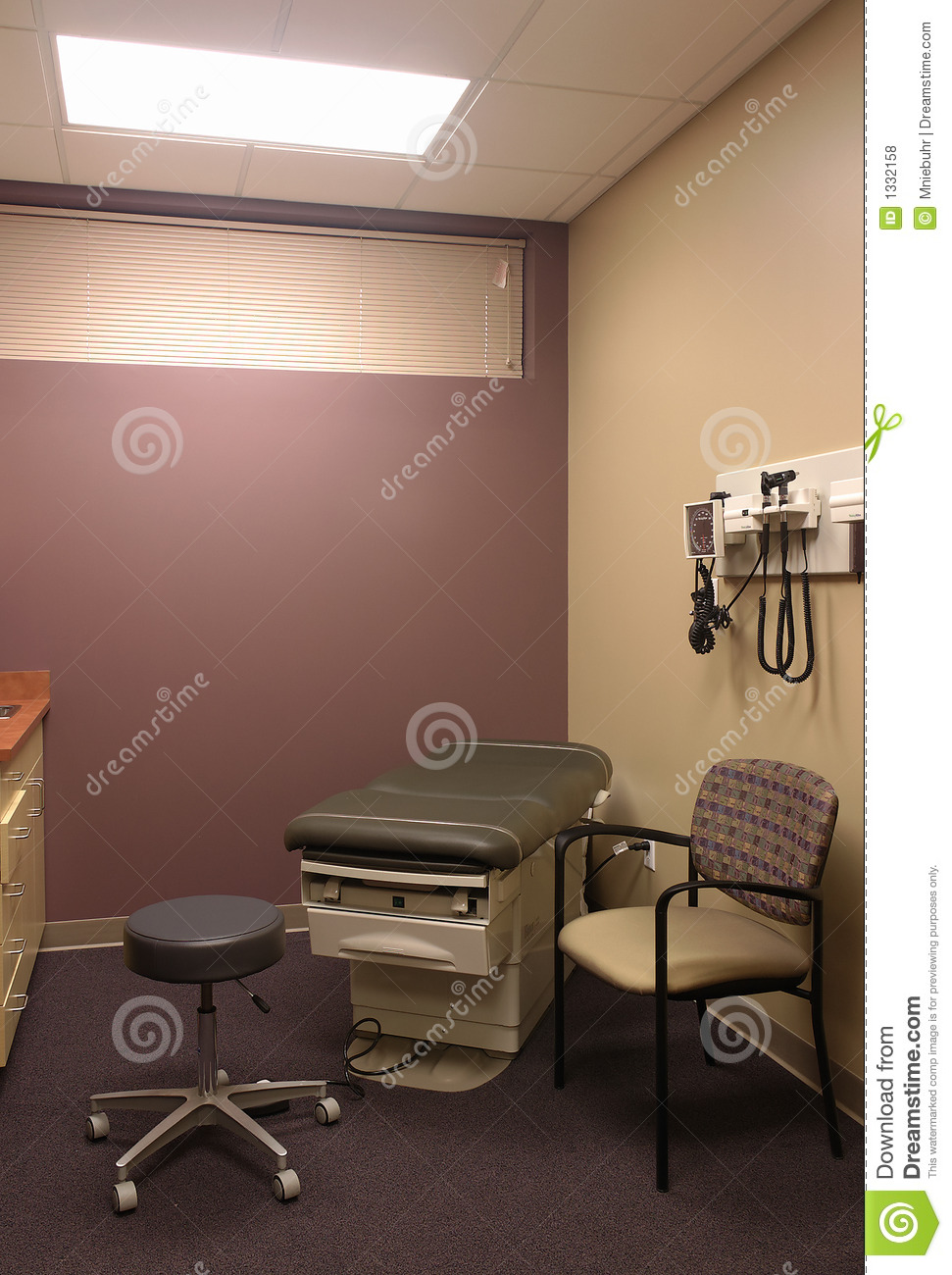 Generic clinic medical exam room and exam table