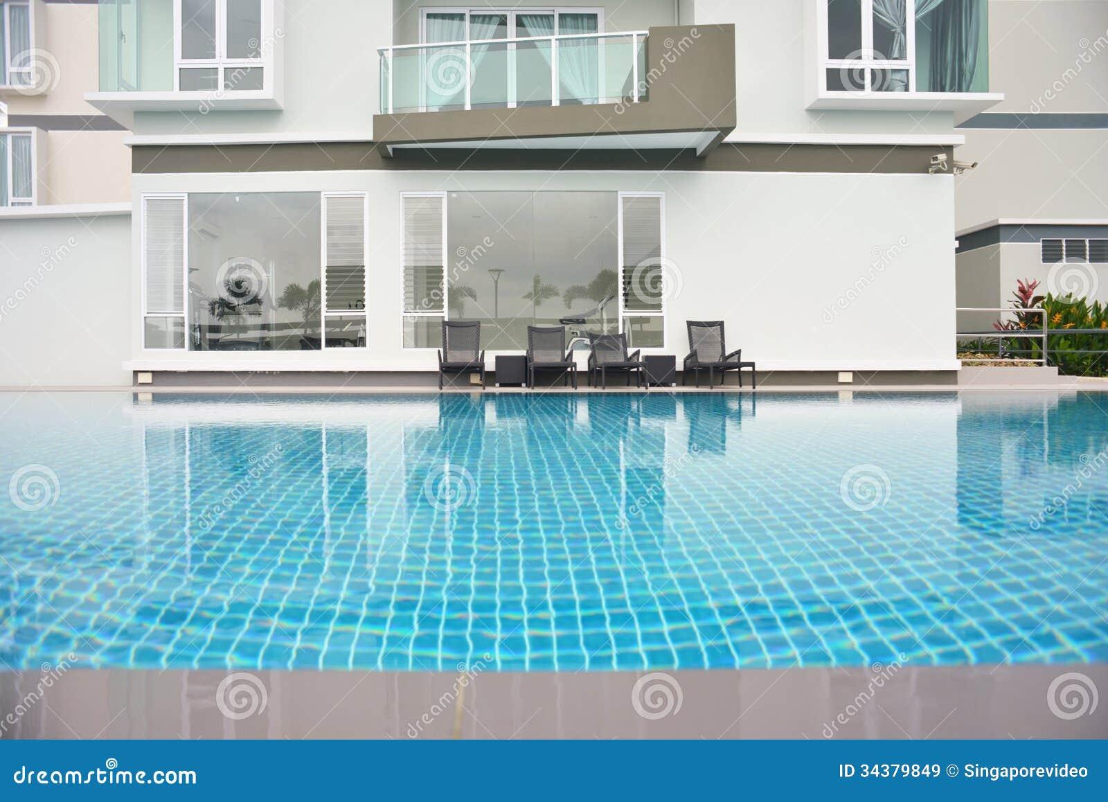 Generic Condominium Outdoor With Swimming Pool Royalty