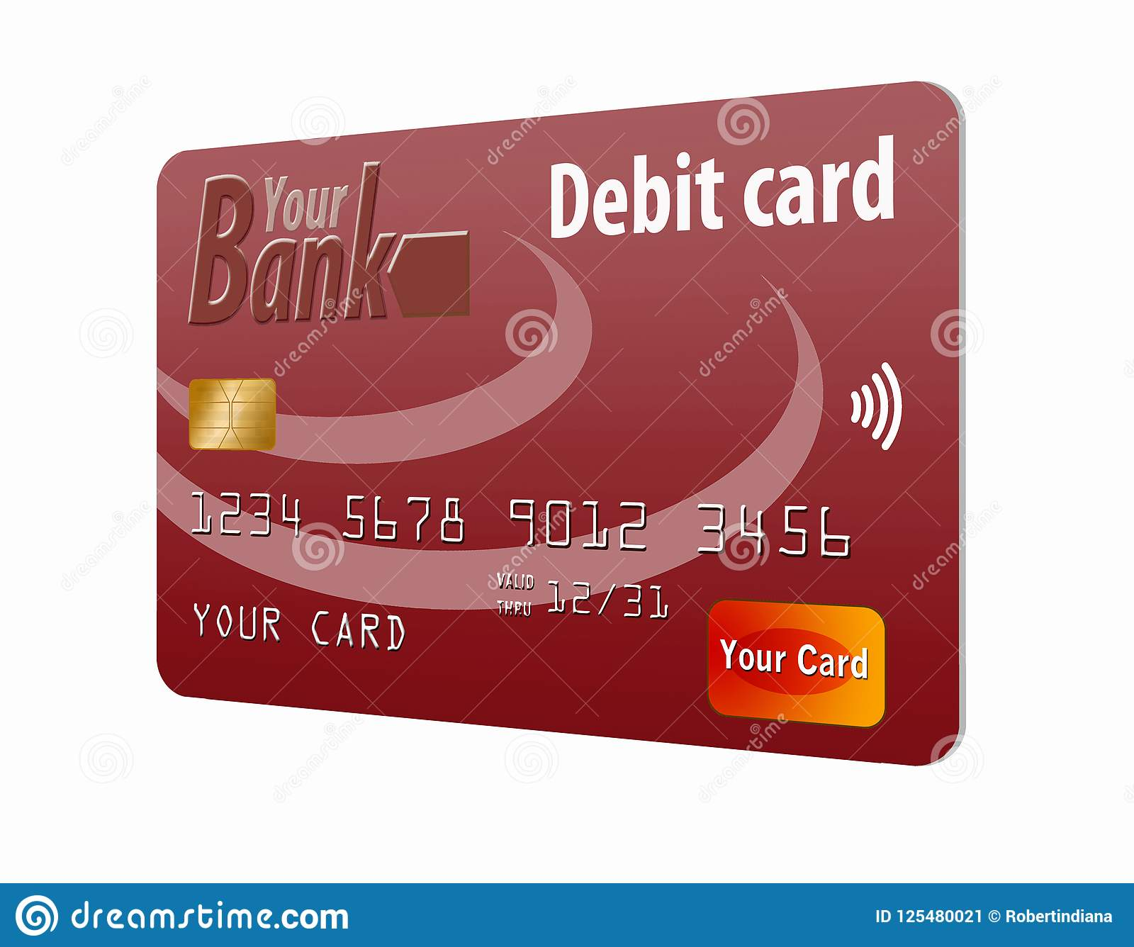 This is a generic debit card.