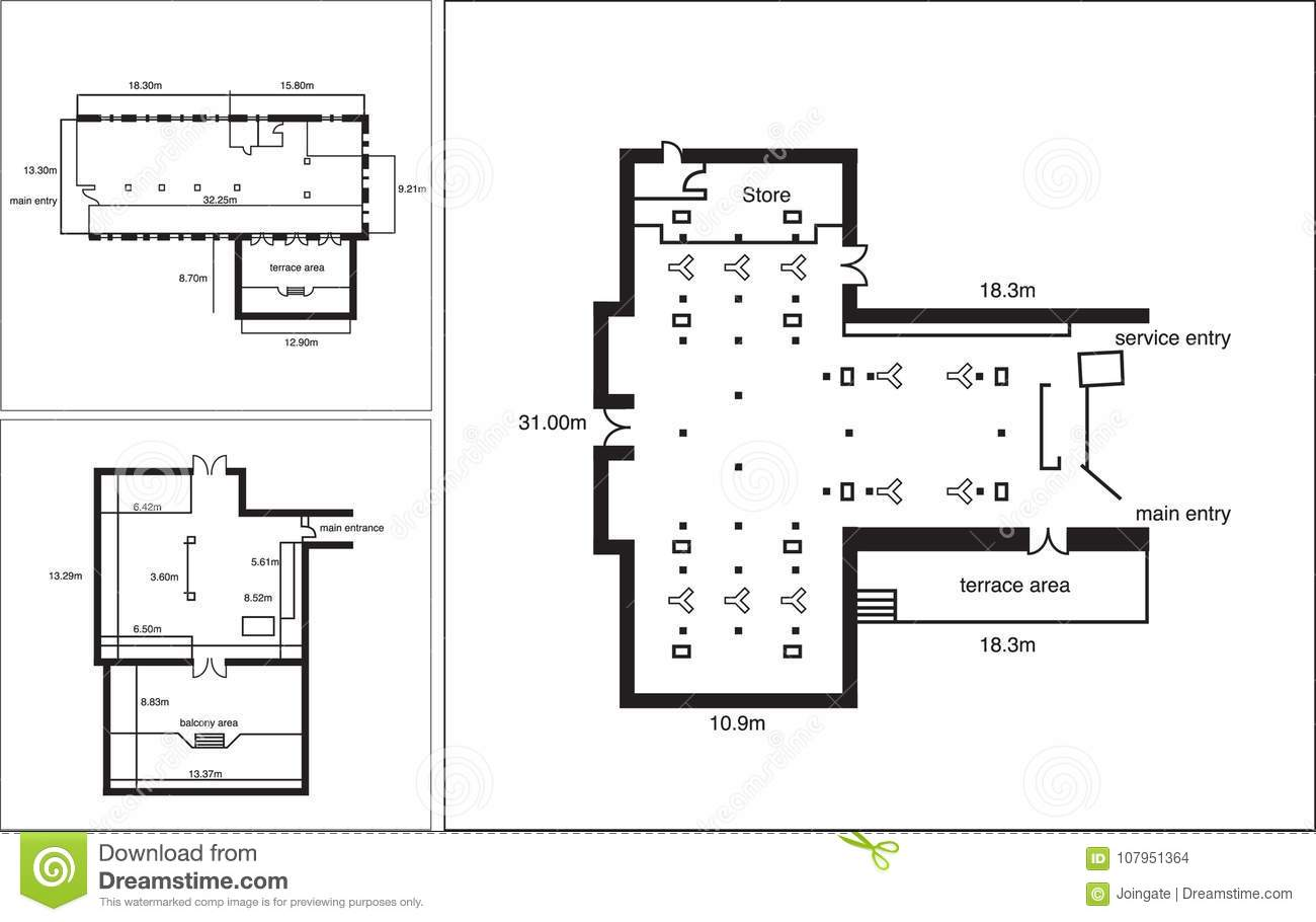 office space floor plan. Generic Floor Plan For A Commercial Office Space