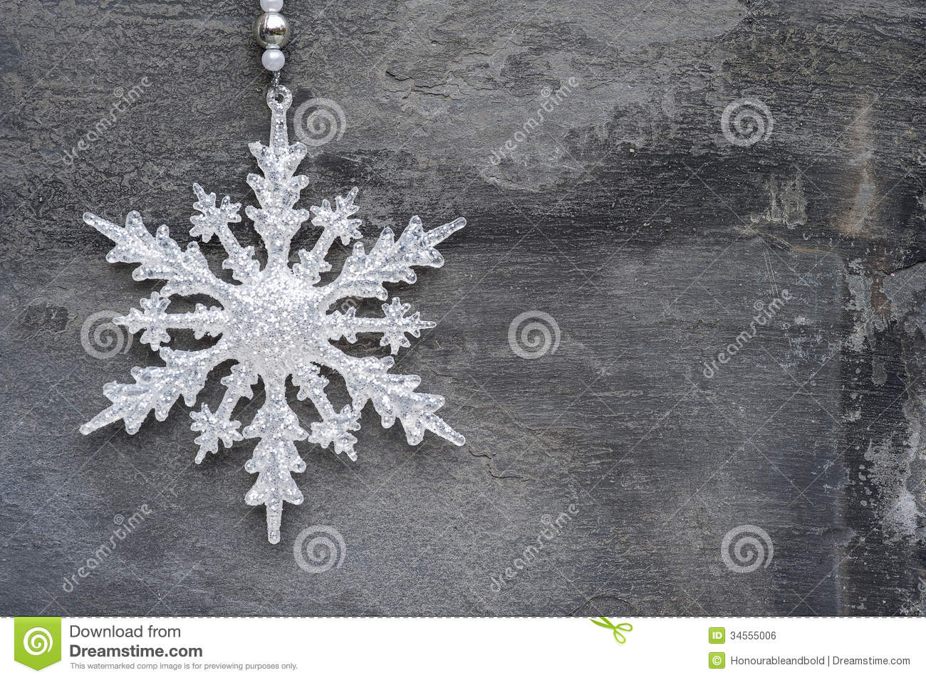 Christmas snowflake ornaments - Generic Machine Made Christmas Snowflake Ornament On Rustic Styl