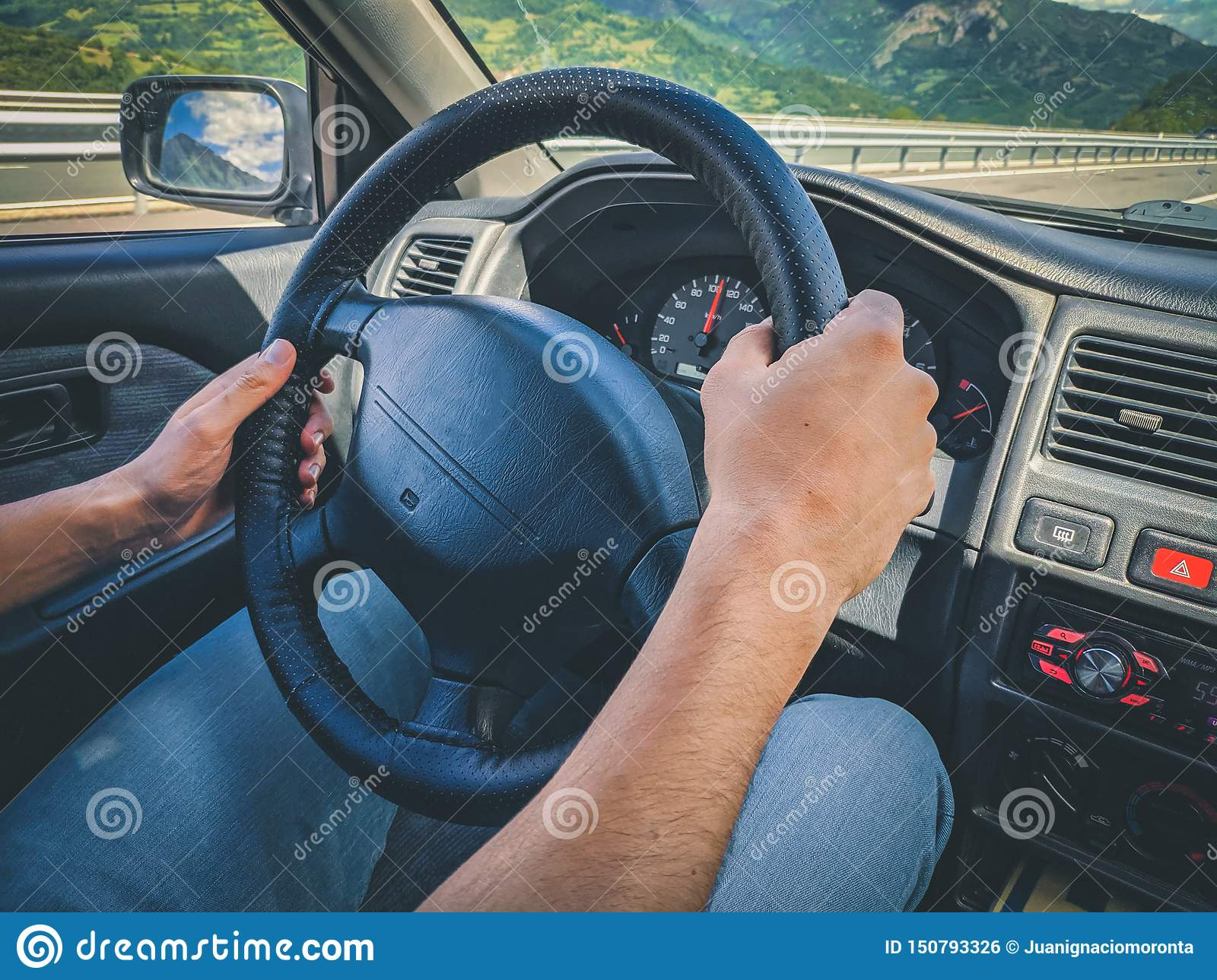 Generic photo of a man driving a car