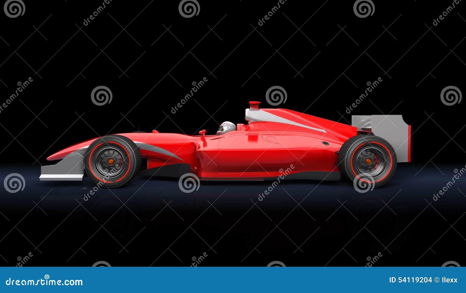 Generic red race car