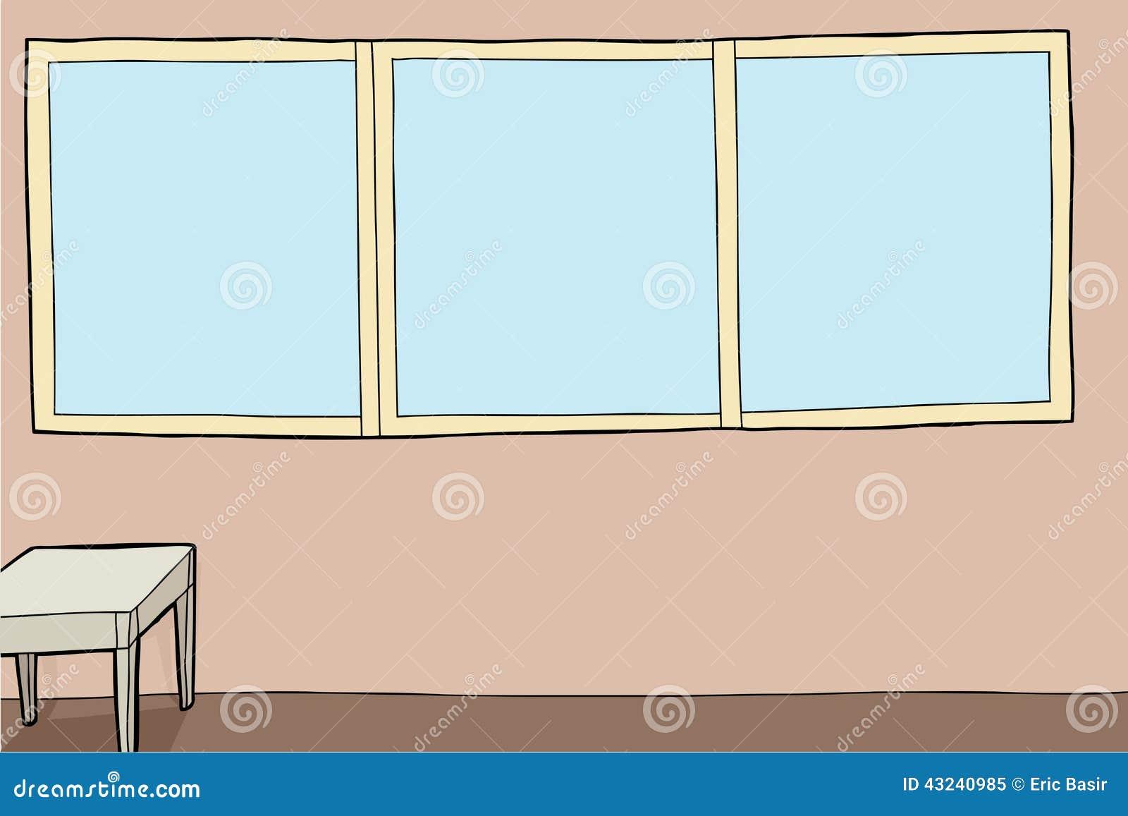 generic room with nightstand stock vector image 43240985