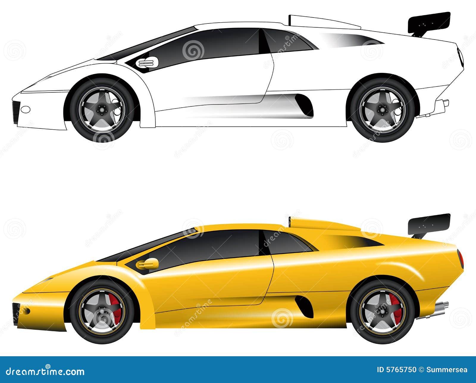 Generic Sports Car Vector Stock Vector Illustration Of Automotive