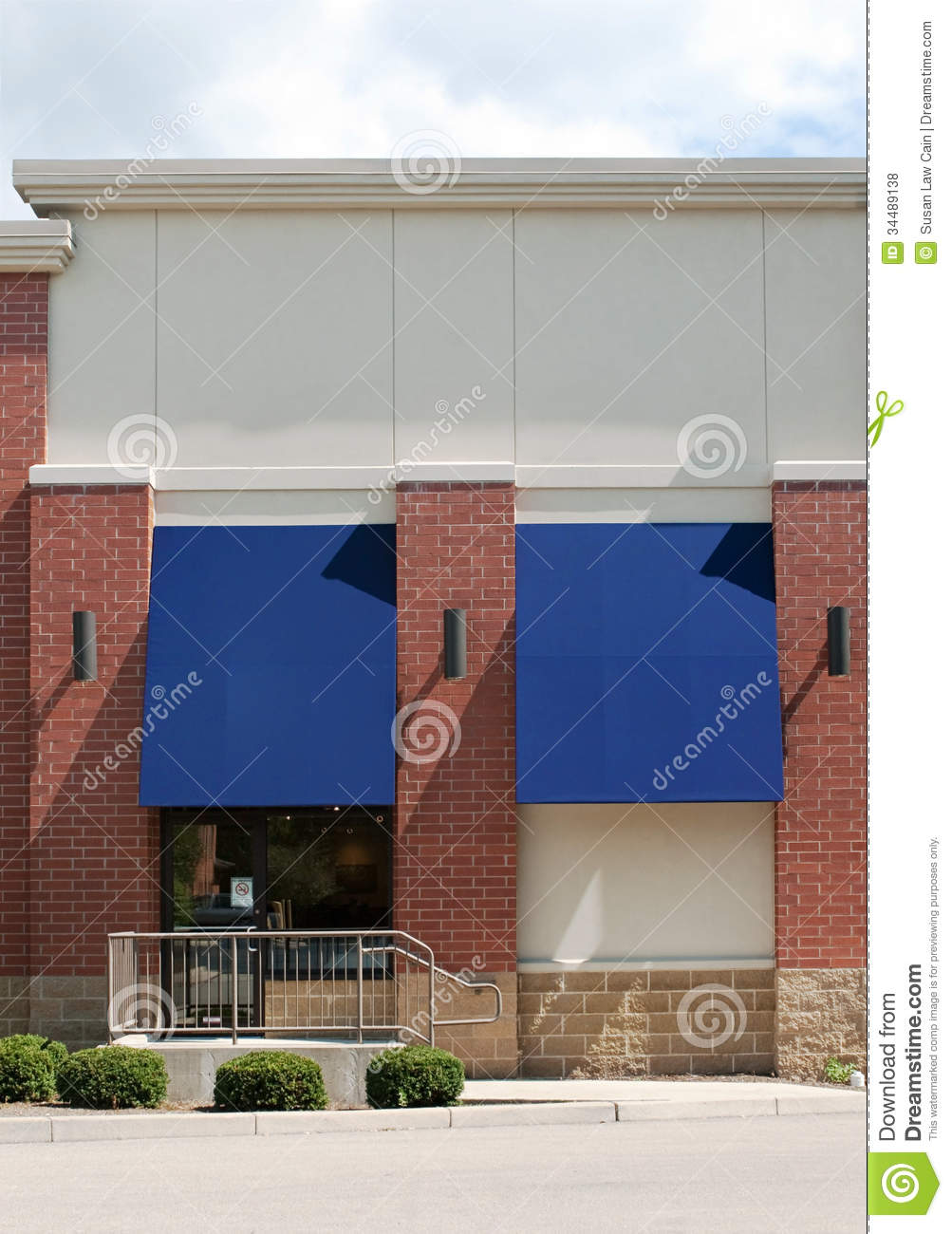 Generic Store Front Stock Photo Image Of Awnings Entrance 34489138