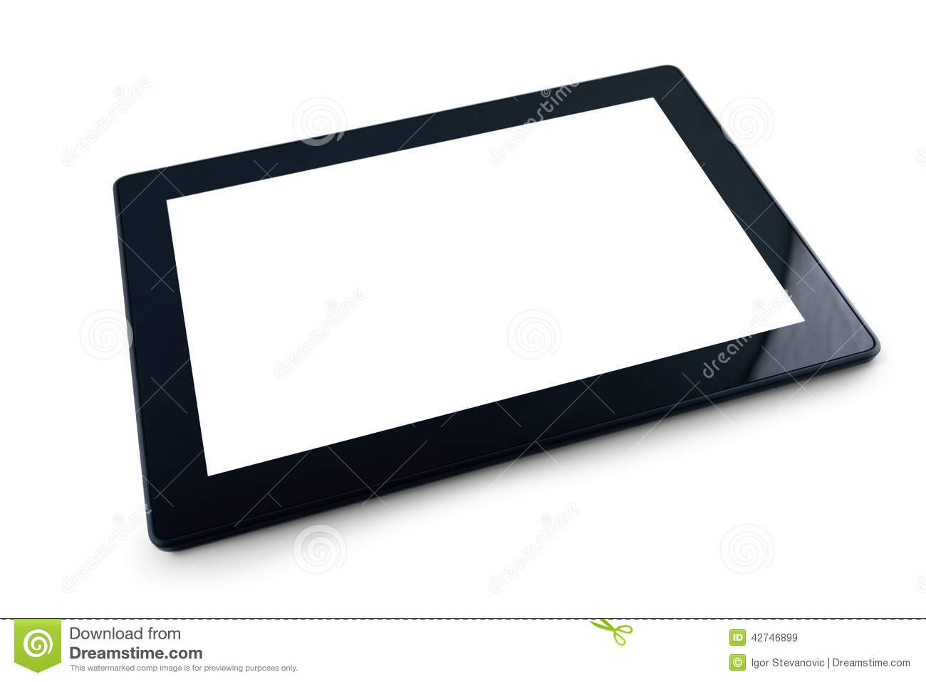 Pc on white background 10 inch display tablet computer as modern