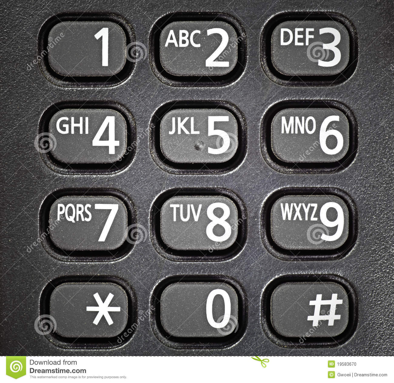 Generic Telephone Keypad. Stock Photo - Image: 19583670