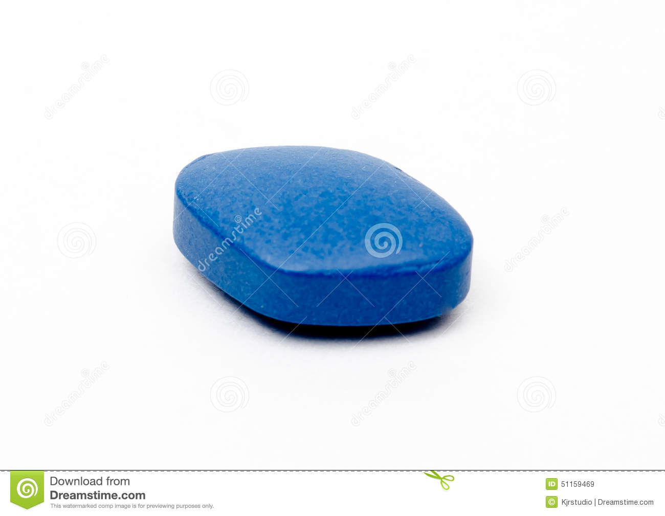 generic viagra blue pill isolated stock photo image