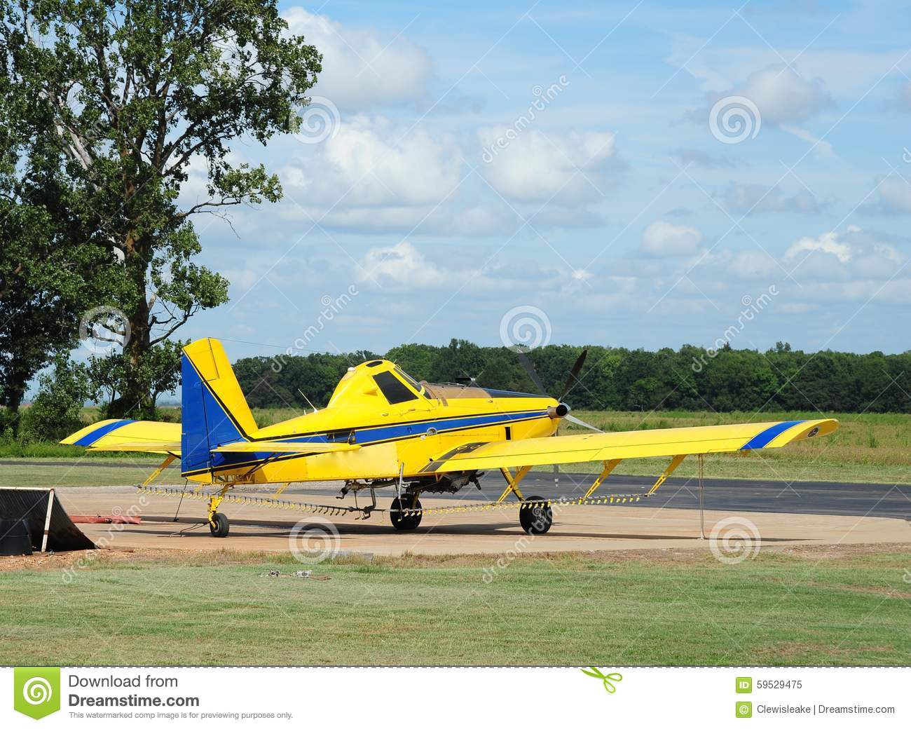 Crop Duster Airplane Stock Photo - Image: 33239340