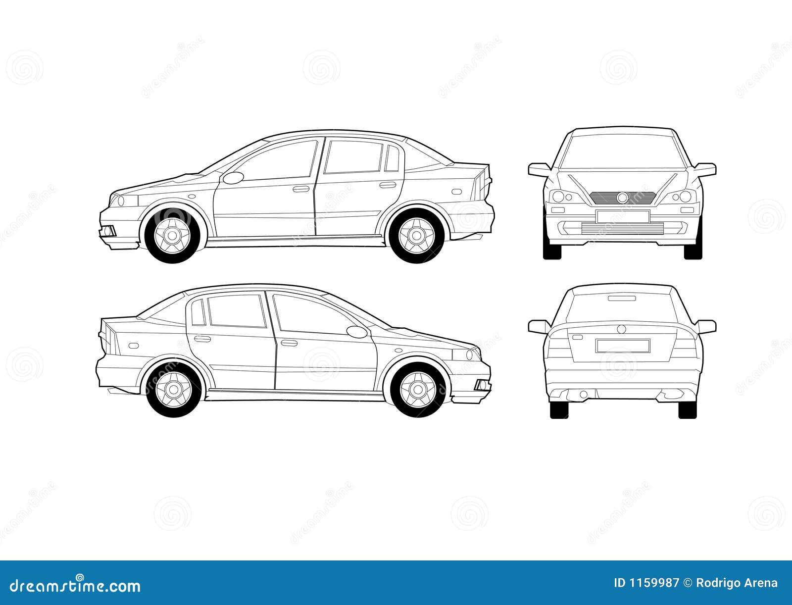 Generisches Saal-Auto-Diagramm Vektor Abbildung - Illustration von ...