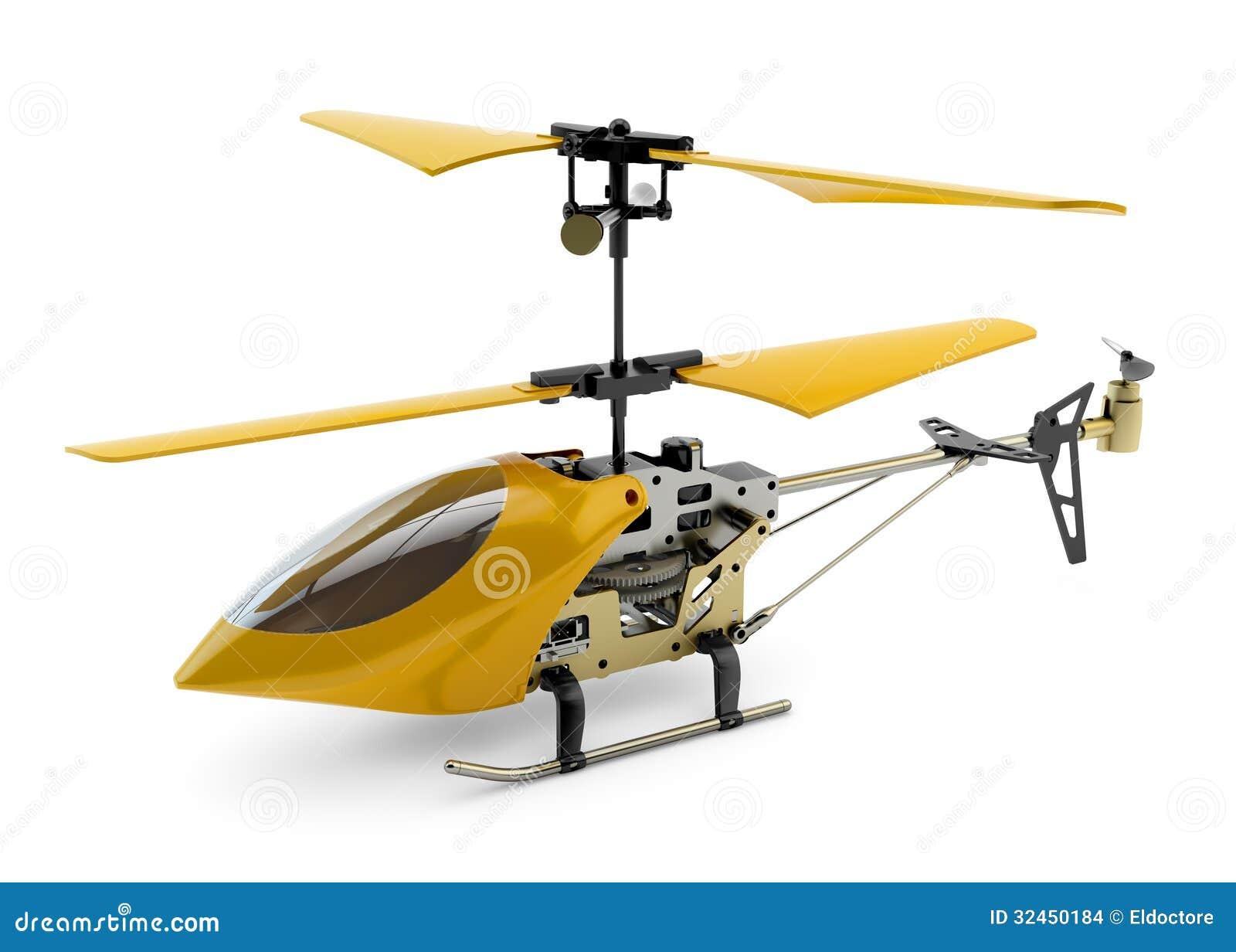 Generisk gul fjärrstyrd helikopter