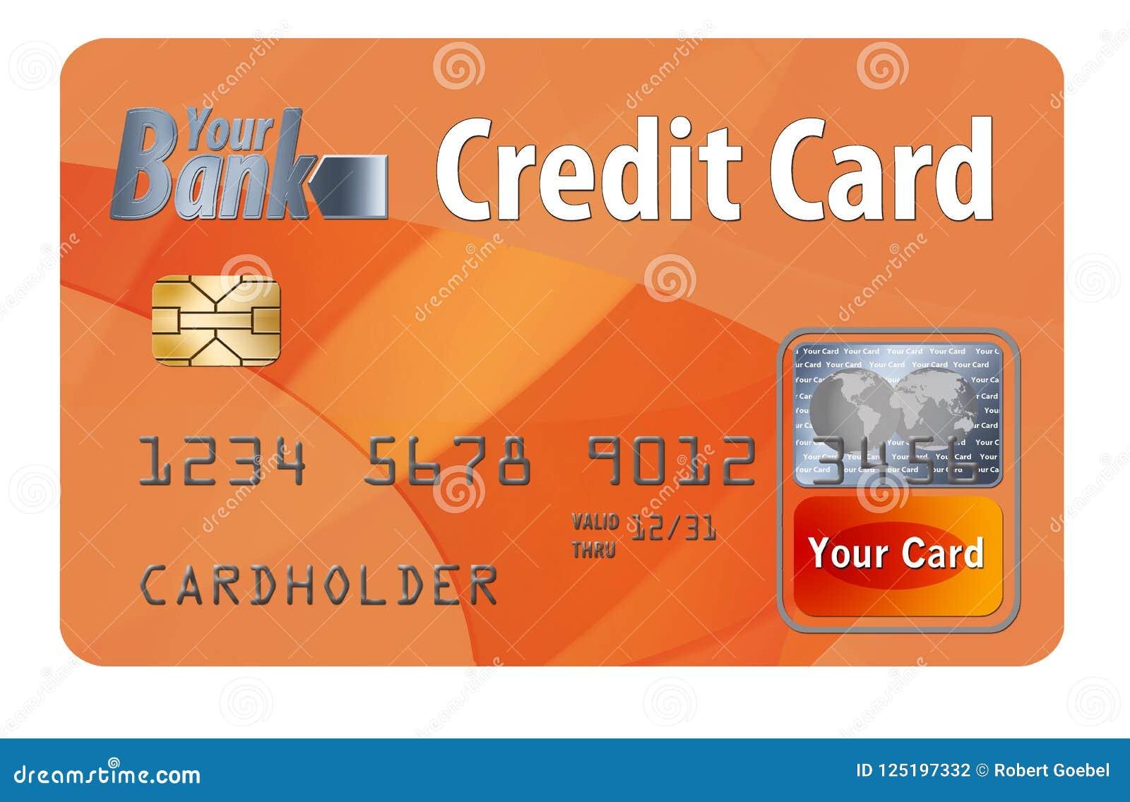 Generiskt krediterings- eller debiteringkort som isoleras på vit