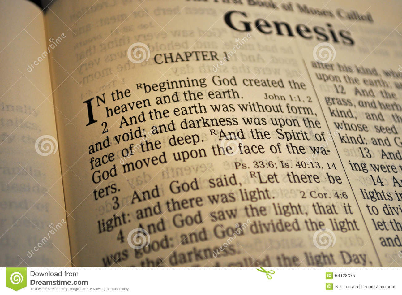 an analysis of the two versions of creation in the beginning of genesis Interpretations of genesis 1:1  this is not an auspicious beginning to a bible translation genesis 1:1:  the two genesis creation stories.