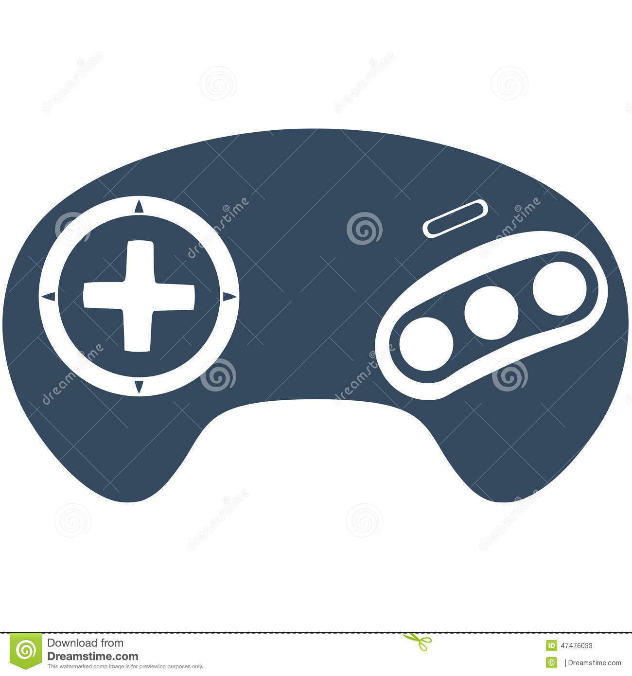 Genesis Megadrive Game Controller Stock Illustration