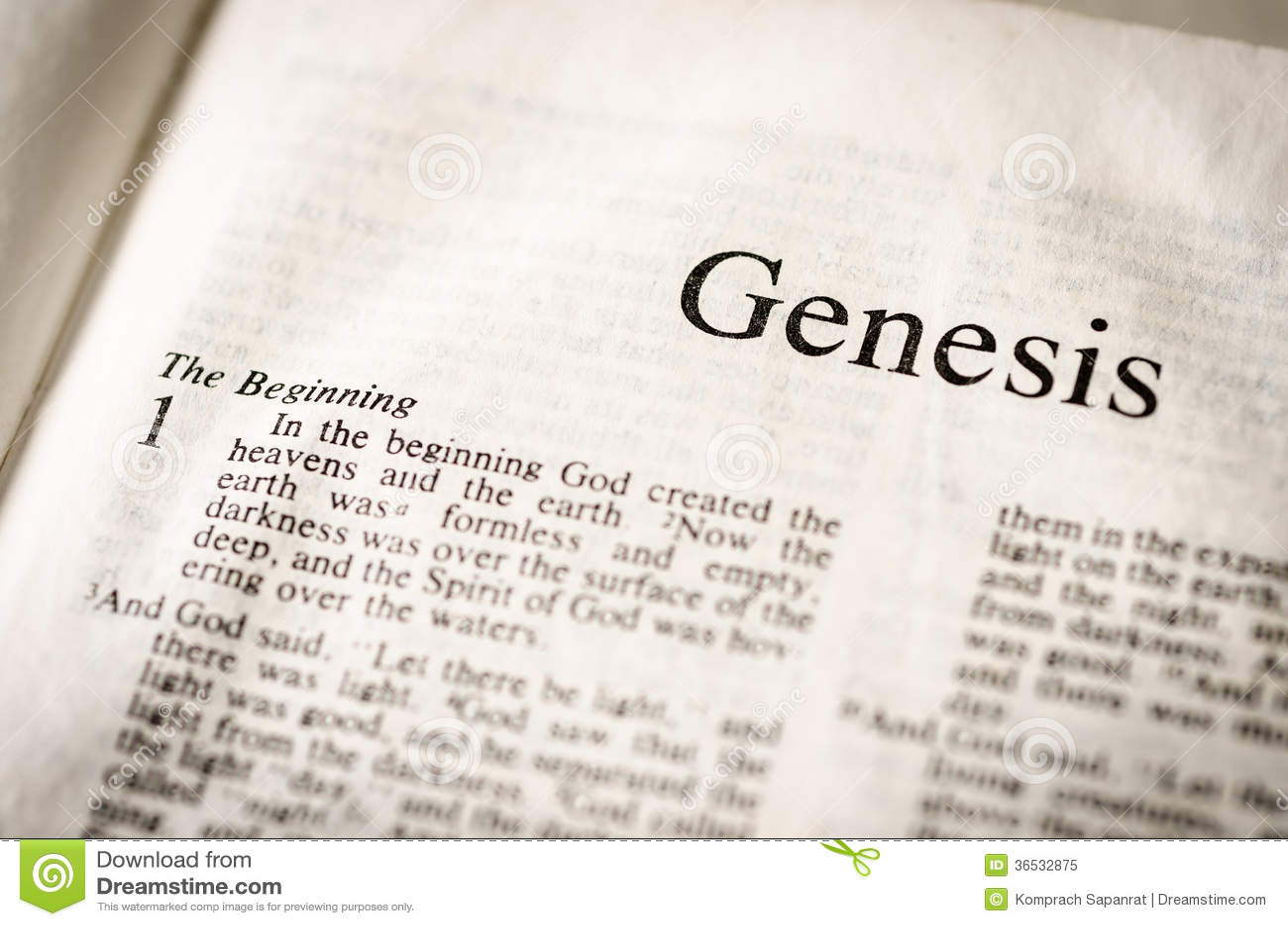 Genesis Text Header Royalty Free Stock Photo
