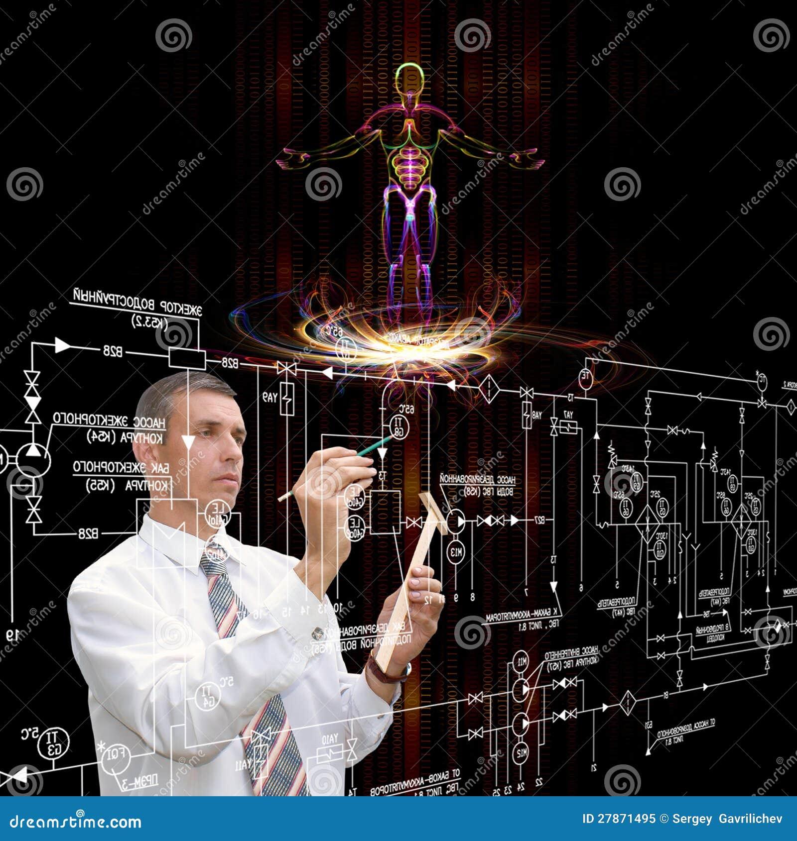 Genetic engineering stock image. Image of human, media ...