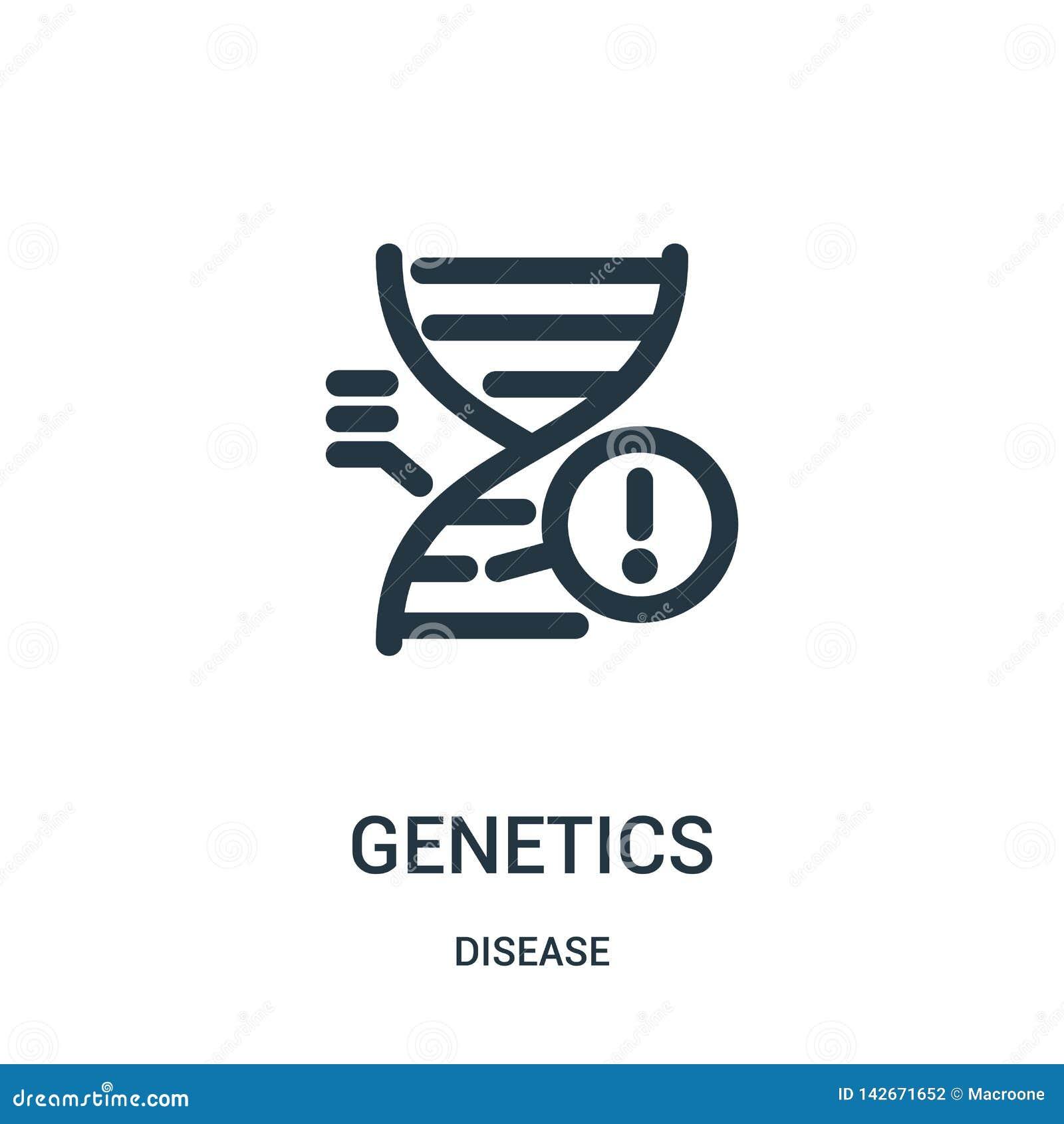Genetikikonenvektor von der Krankheitssammlung Dünne Linie Genetikentwurfsikonen-Vektorillustration Lineares Symbol für Gebrauch