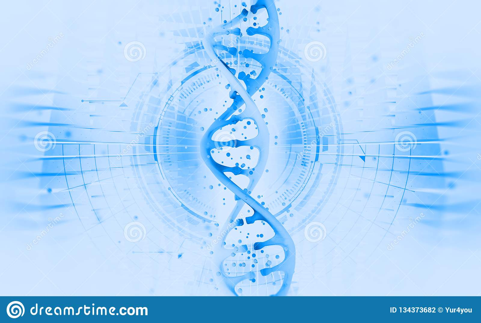 Genetische biologie wetenschappelijk concept Hallo Technologie-technologie op het gebied van genetische biologie Het werk aangaan