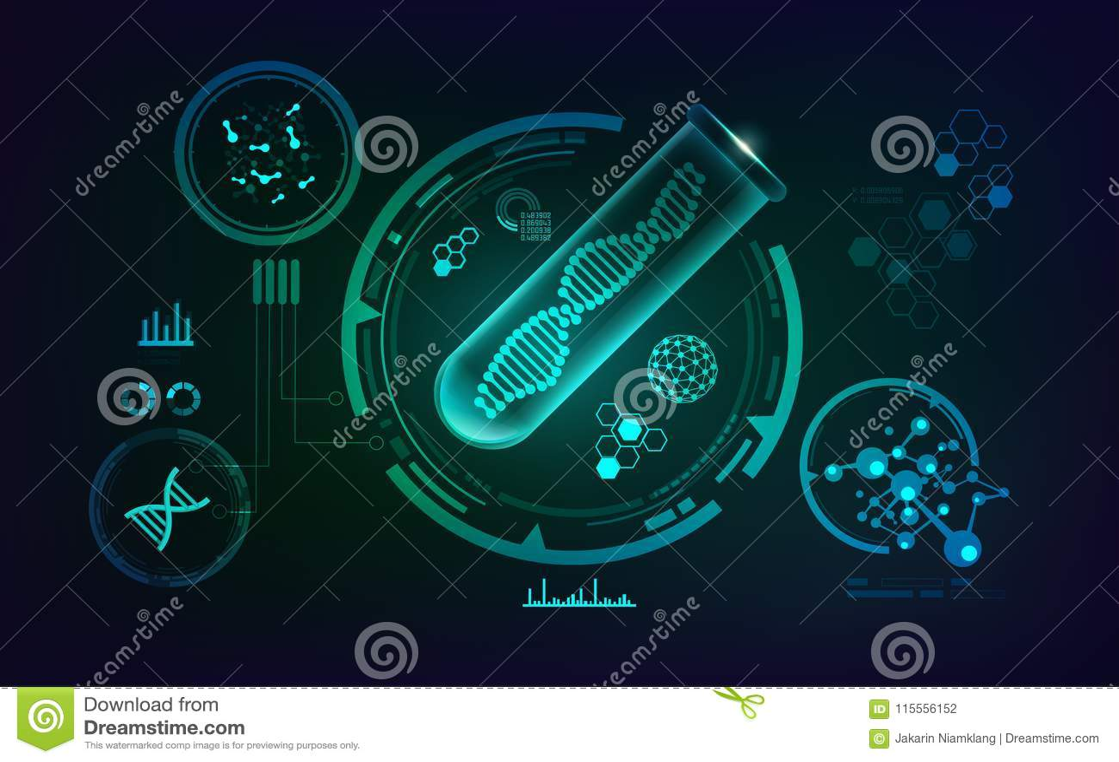 Genetisches DNA-Konzept getrennt auf weißem Hintergrund