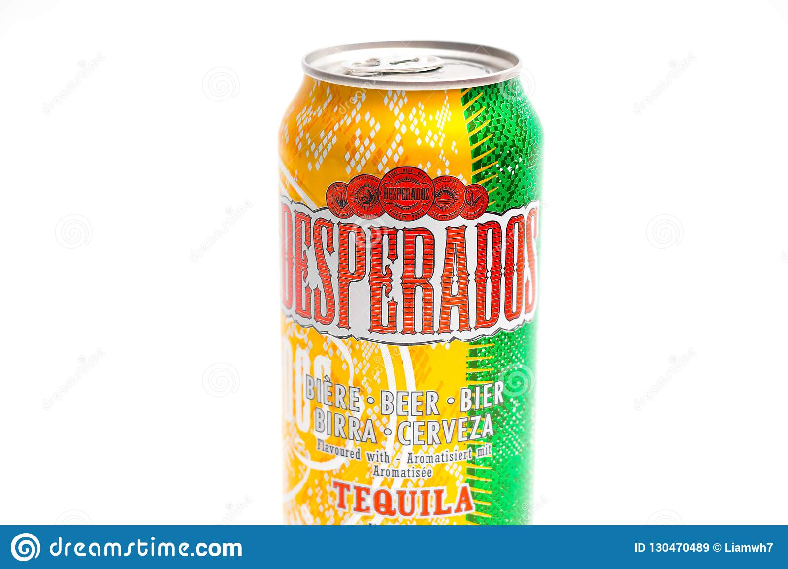 Geneva Switzerland 09 09 18 Desperados Flavored Beer Tequila Can Cerveza Editorial Stock Image Image Of Isolated Froth 130470489