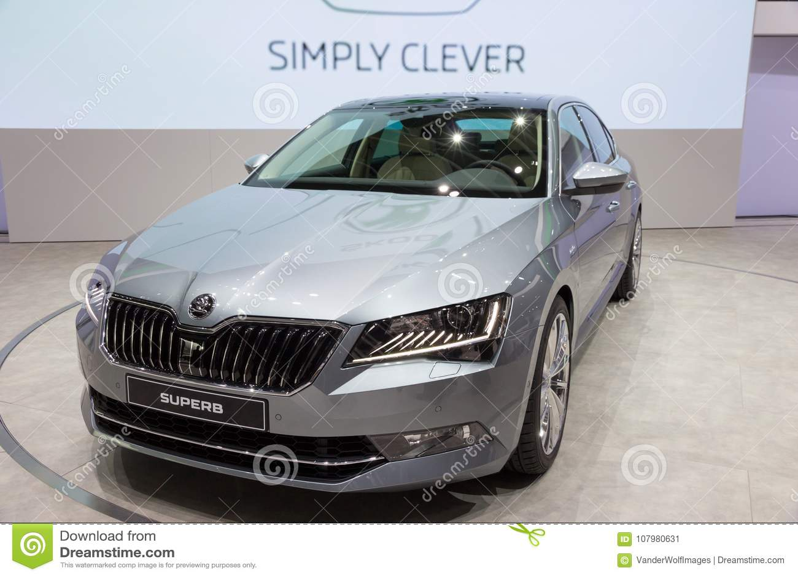 new 2015 skoda superb car editorial photo image of automobile 107980631