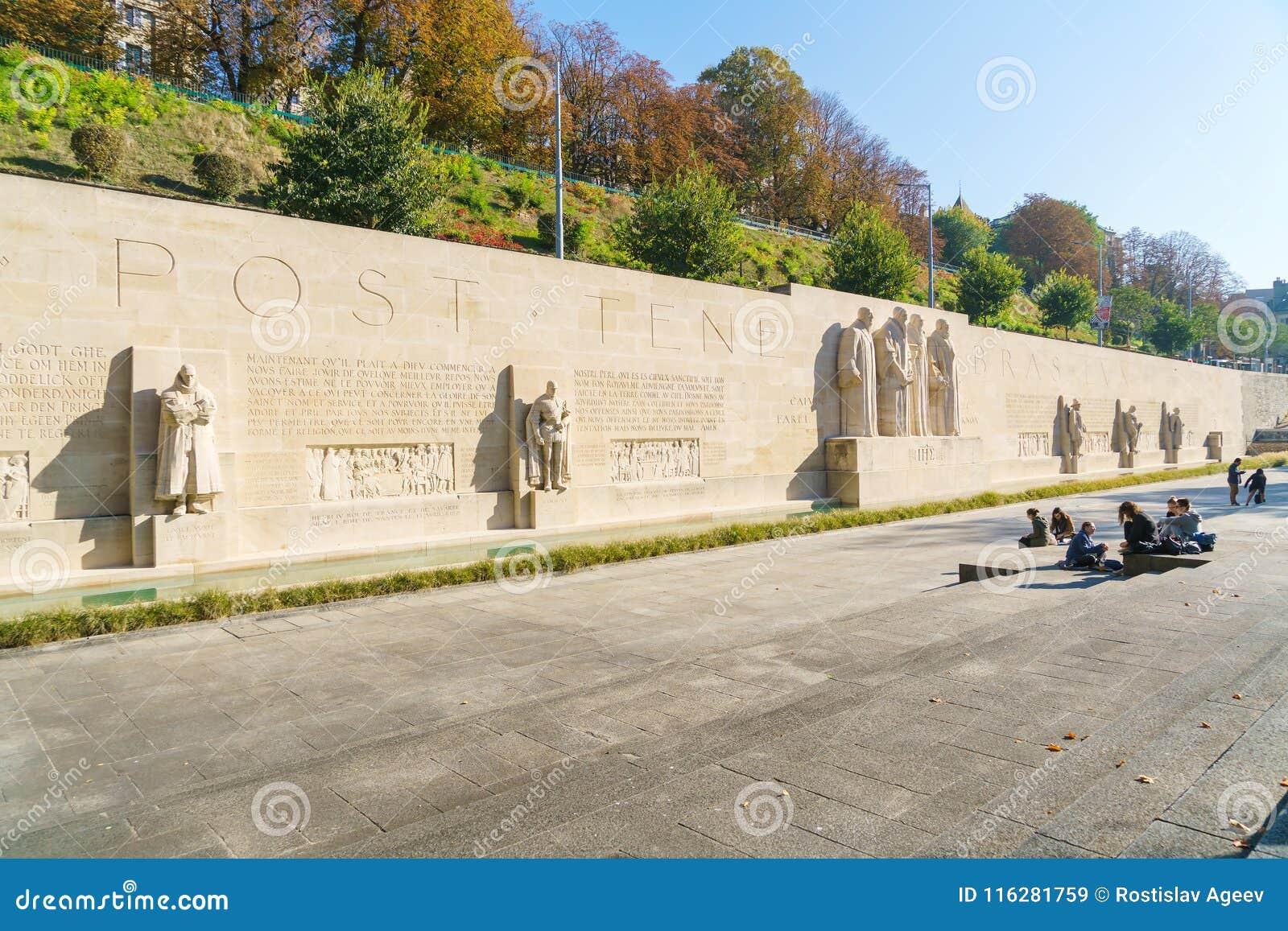 Genewa Szwajcaria, Październik, - 18, 2017: Międzynarodowy Monume