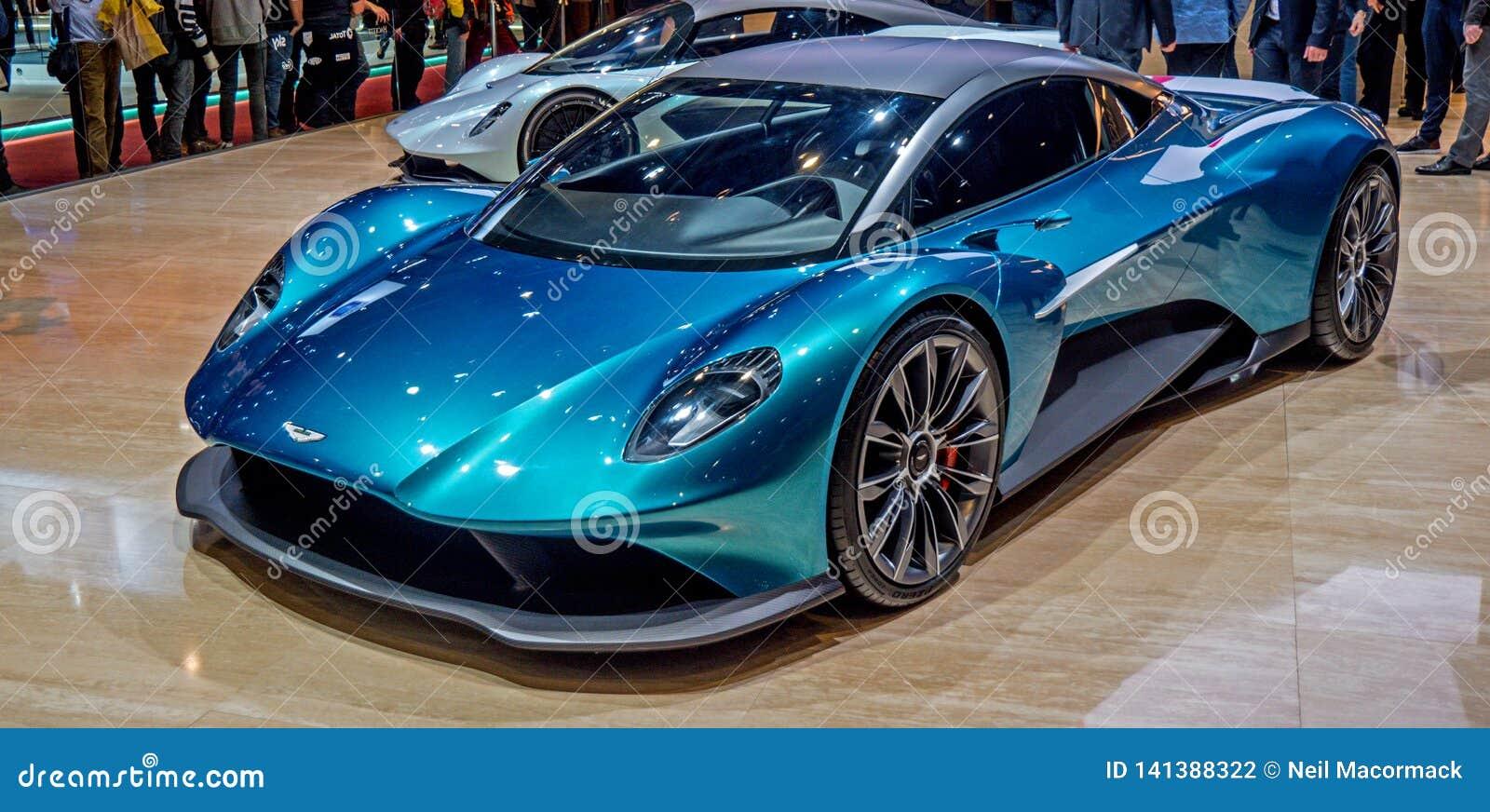 Genf Autoausstellung Aston 2019 Martin Aston Martin Vanquish Vision Concept Car Redaktionelles Stockfotografie Bild Von Fahrzeug Autos 141388322