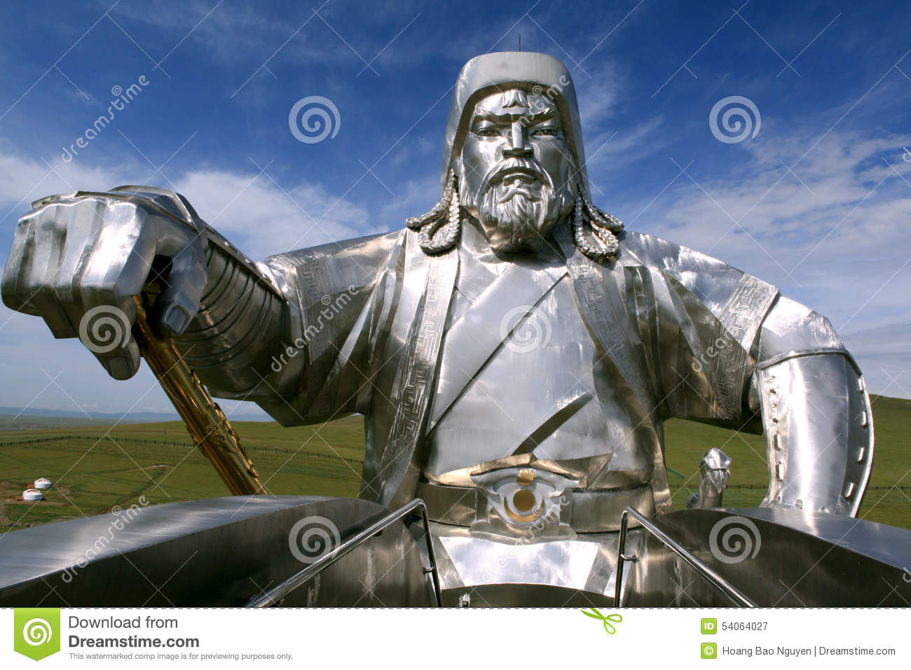 Genghis Khan Equestrian Statue in Mongolië
