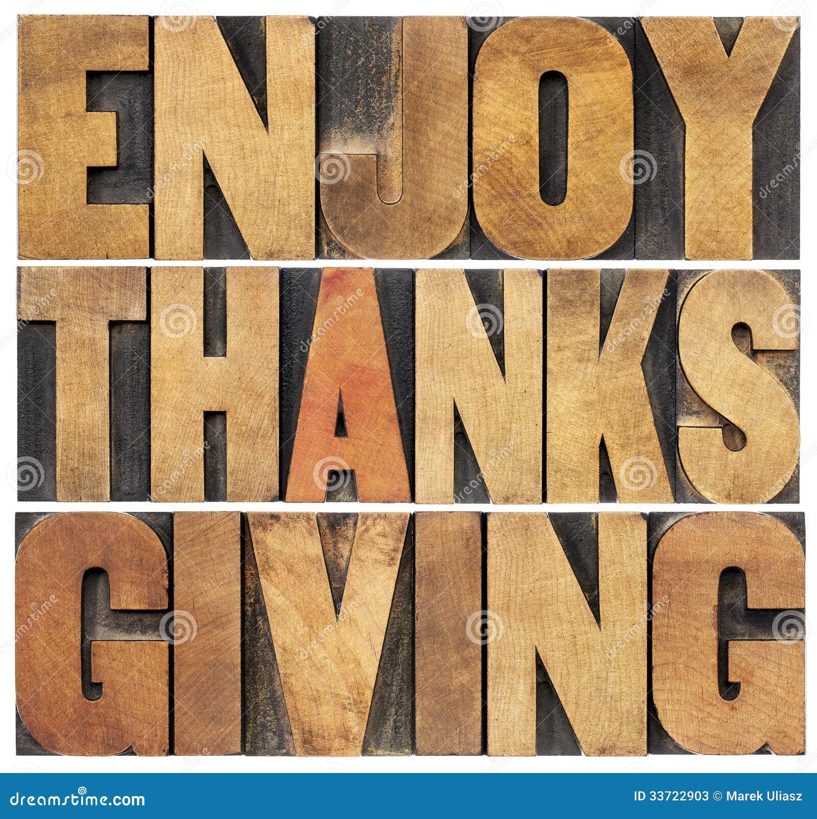 Genießen Sie Danksagung
