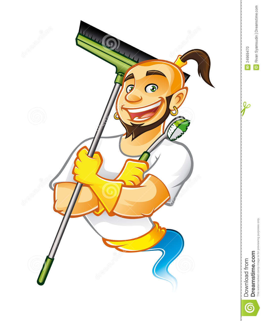 Genie Cleaner Male Stock Photo Image 24969470