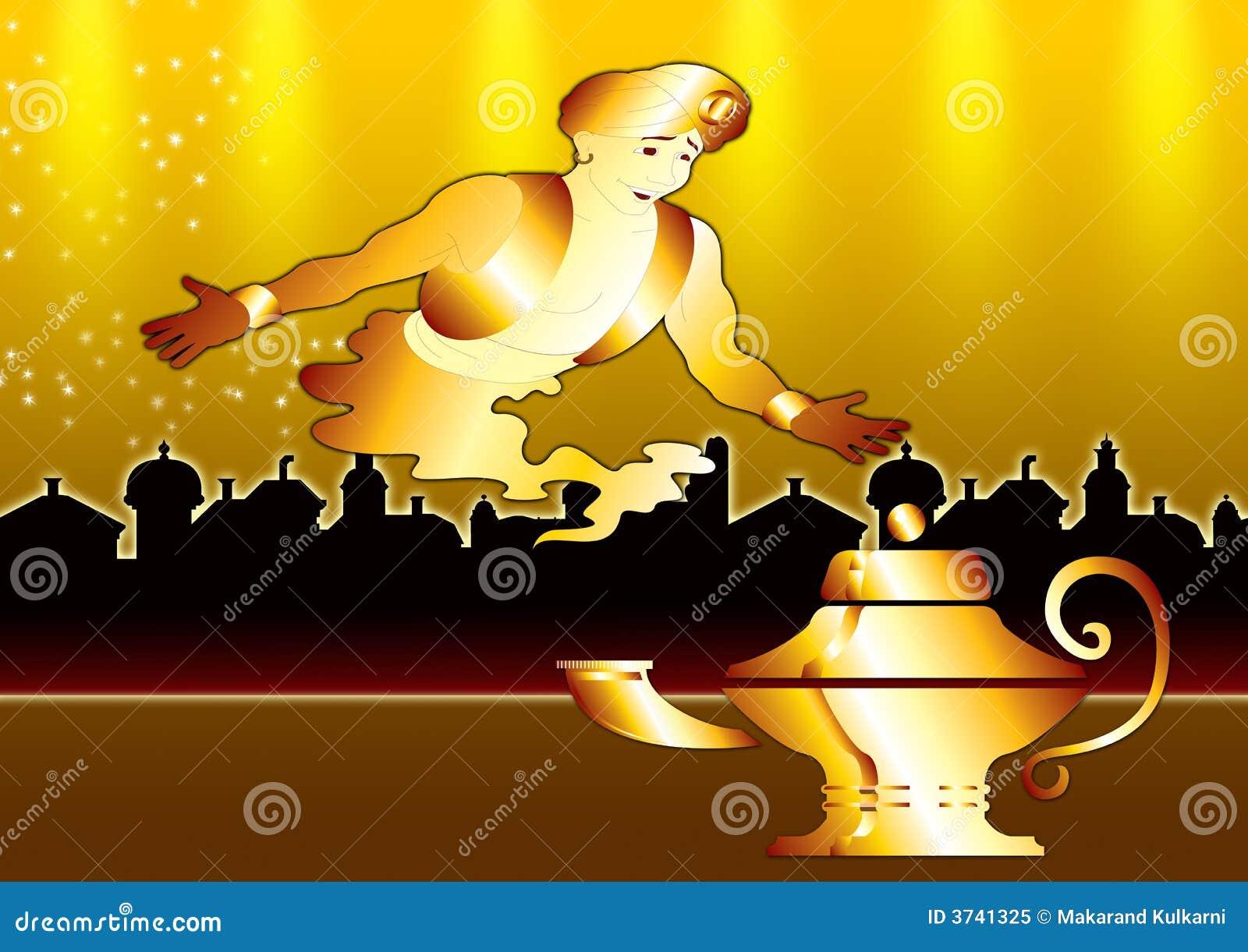 Genie in gouden stad