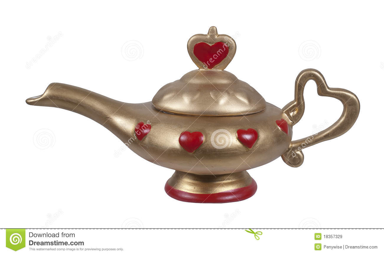 Genie lamp stock photos pictures royalty free genie - Royalty Free Stock Photo Genie Gold Lamp