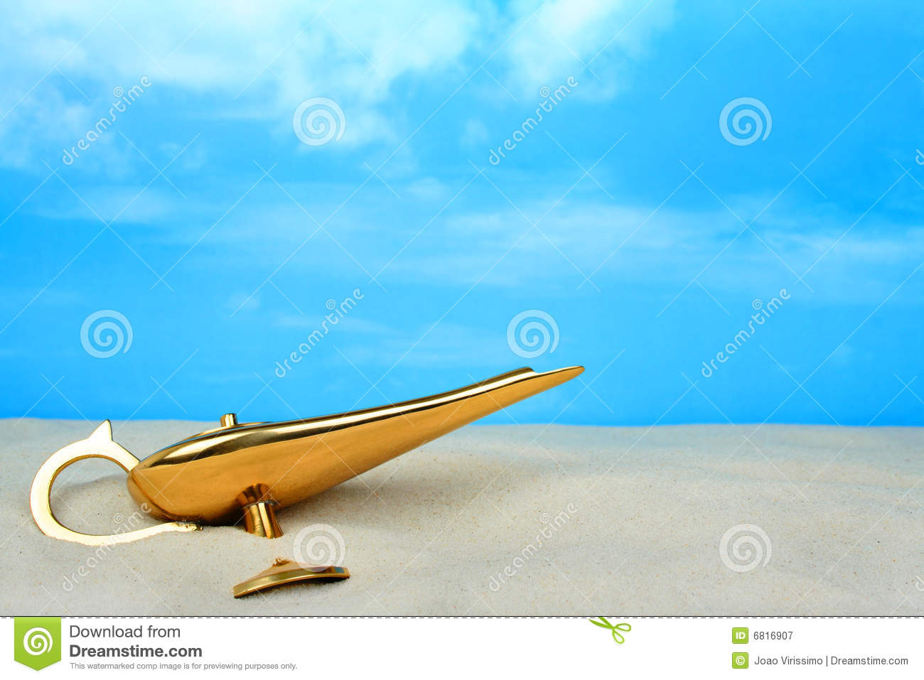 Genie lamp stock photos pictures royalty free genie - Royalty Free Stock Photo Buried Concept Desert Genie Lamp