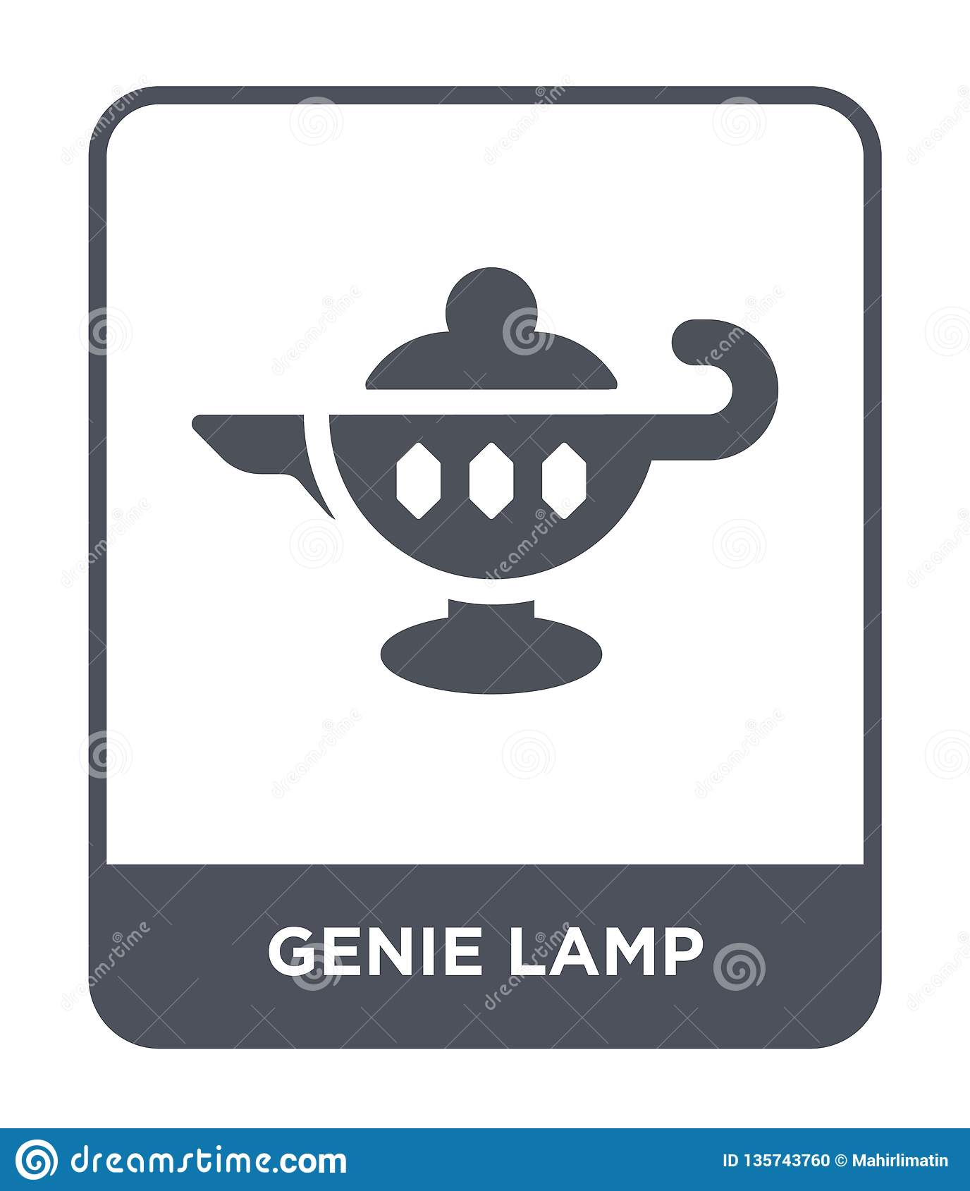 genie lamp icon in trendy design style. genie lamp icon isolated on white background. genie lamp vector icon simple and modern