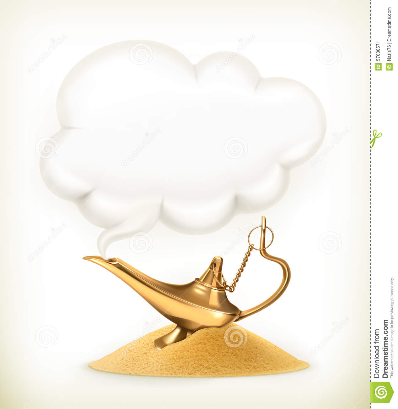 Genie lamp stock photos pictures royalty free genie - Royalty Free Vector Background Genie Illustration Isolated Lamp