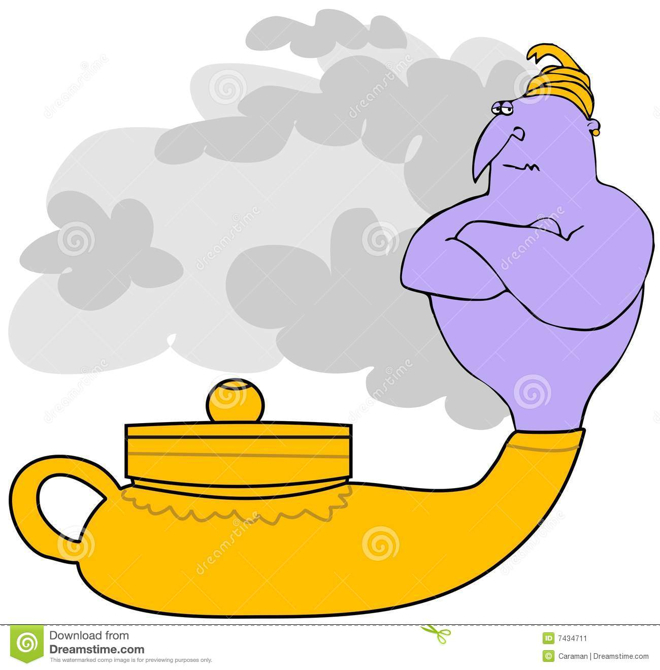 Great Genie In A Magic Lamp
