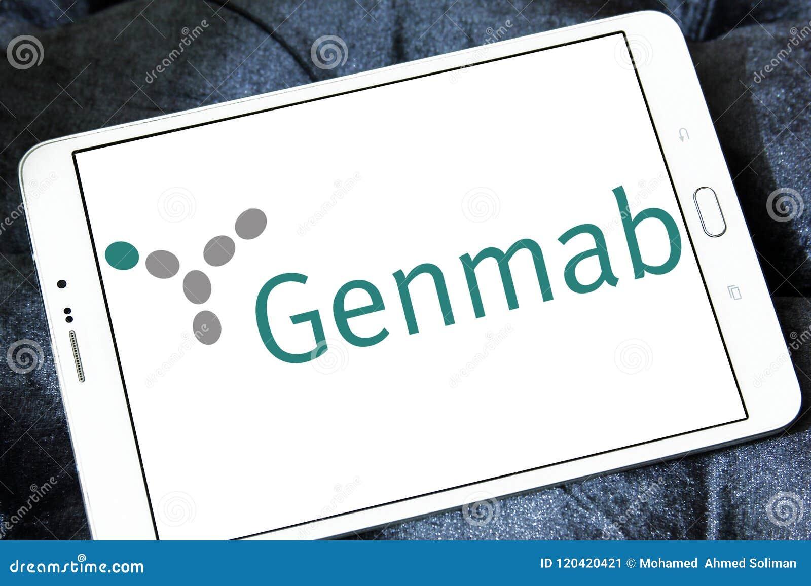 Genmab biotechnologii firmy logo