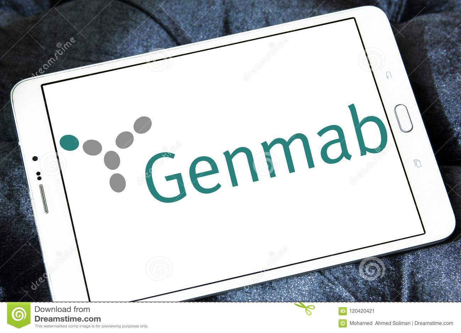 Genmab biotechnology company logo