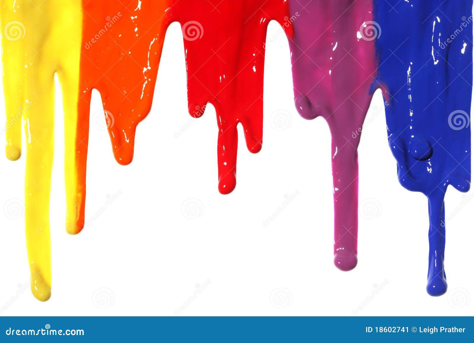 Genomblöt målarfärg