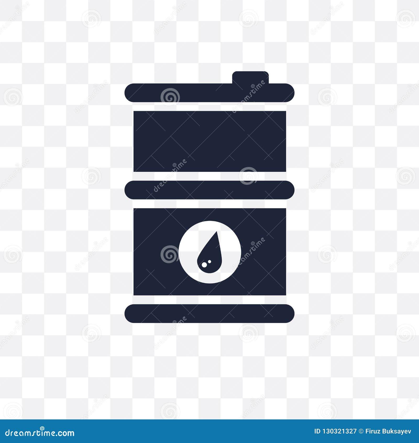 Genomskinlig symbol för oljatrumma Design för symbol för oljatrumma från Indus