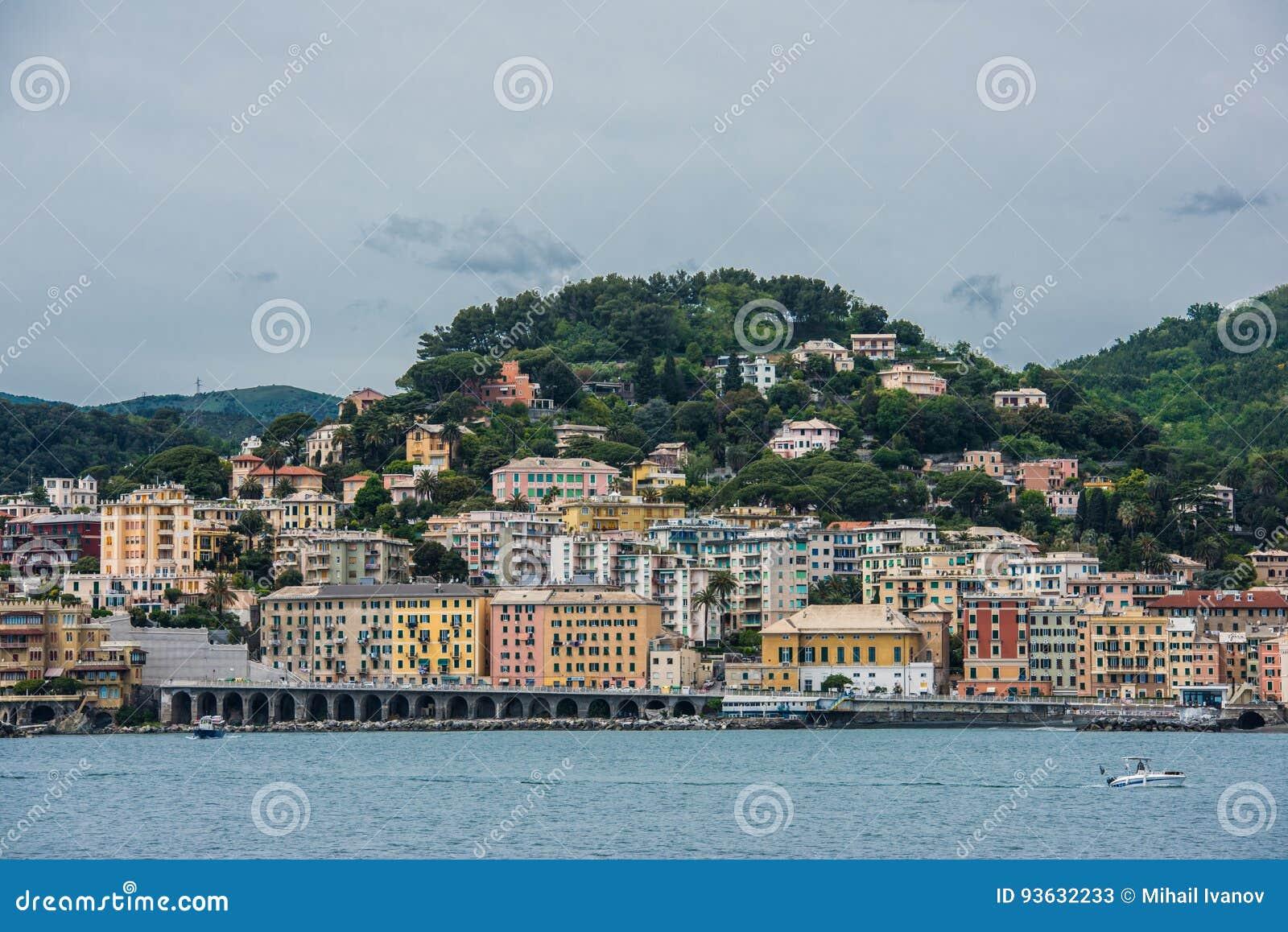 Genova coastline and beach