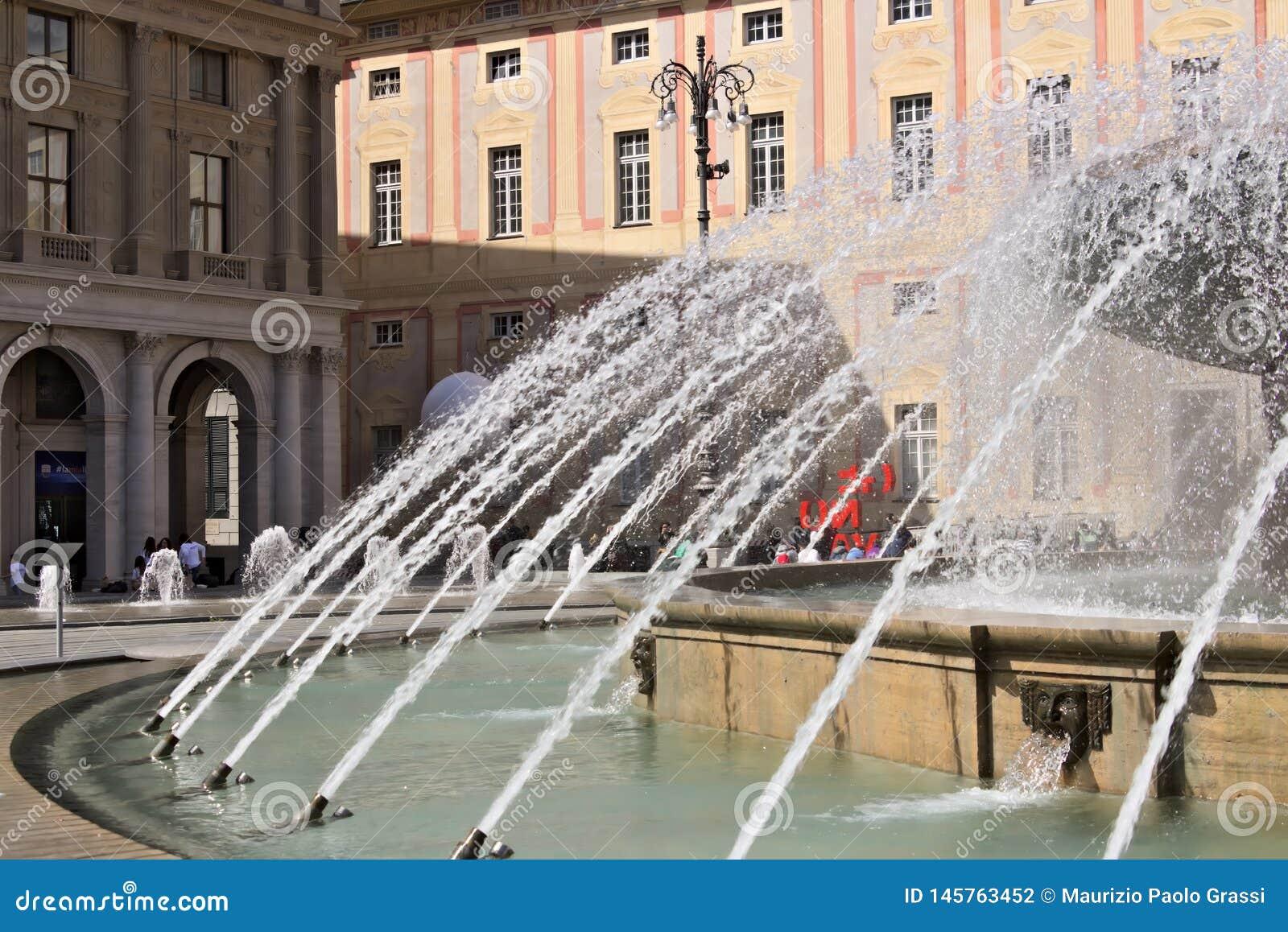 Genova Fontana di Piazza de Ferrari