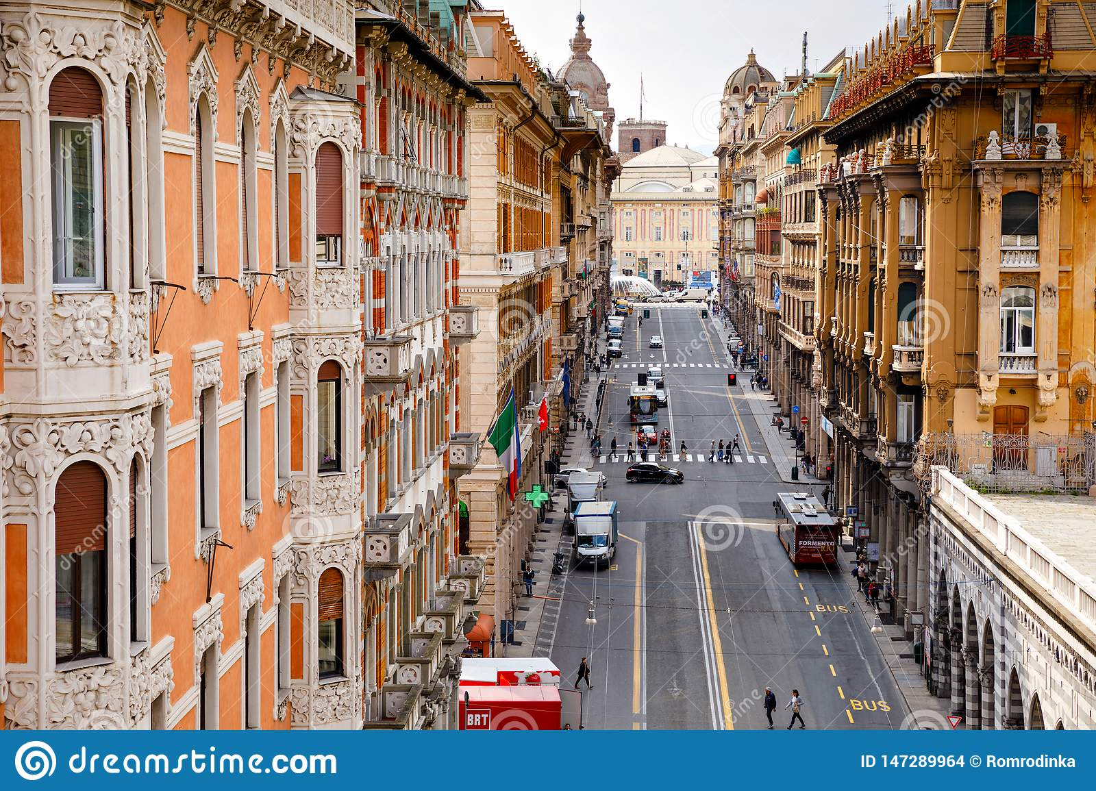 Genova Genoa Italy April 18 2019 Charming Streets Of Genoa Italy Old Famous City Of Italy With Beautiful Editorial Stock Image Image Of Famous Monument 147289964