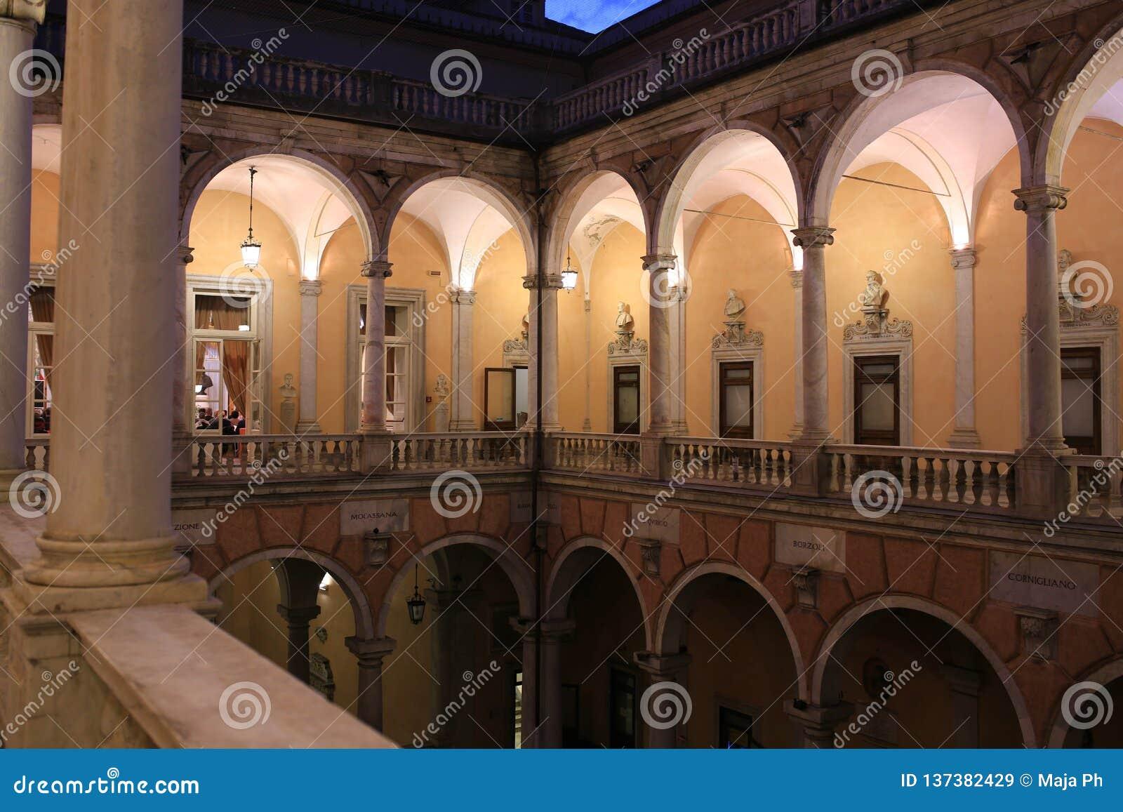 _Genova, Liguria, Italia, Europa di Doria Tursi del palazzo