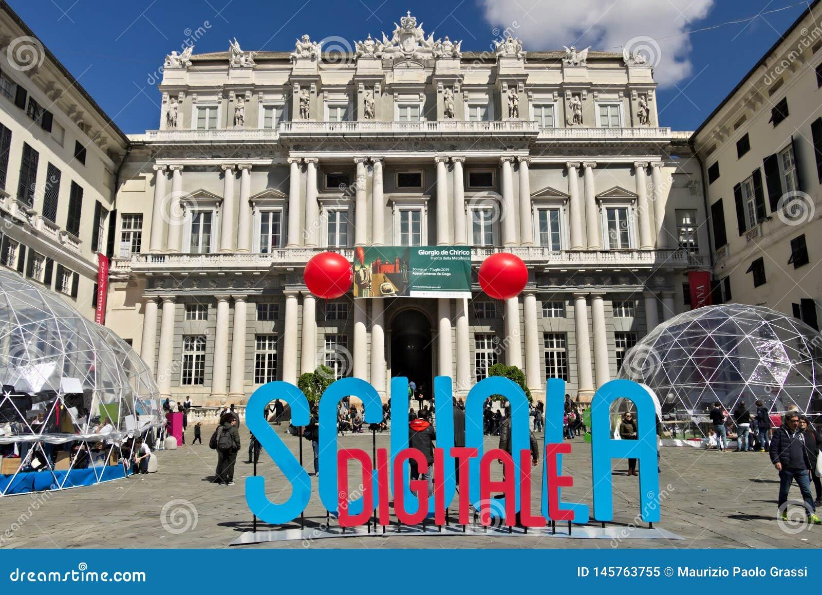 Genova Palazzo Ducale con l evento della scuola di Digital