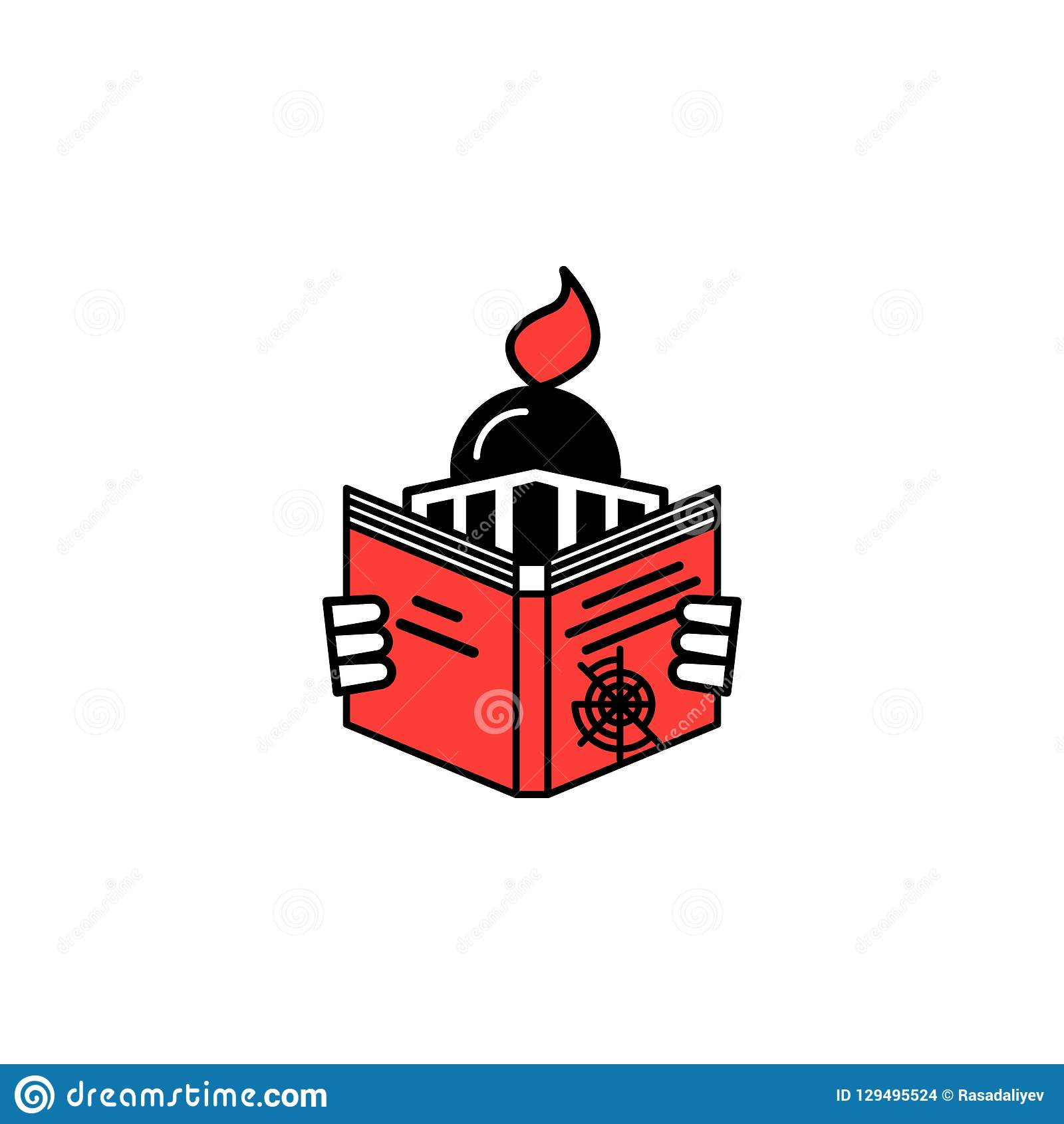 Genre, book, navigation icon. Element of literary genres icon for mobile concept and web apps. Detailed Genre, book, navigation ic